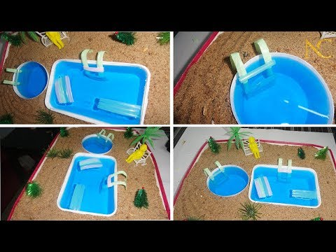 How to make A Miniature Swimming pool | Diy Doll Accessories mini pool | Best out of waste