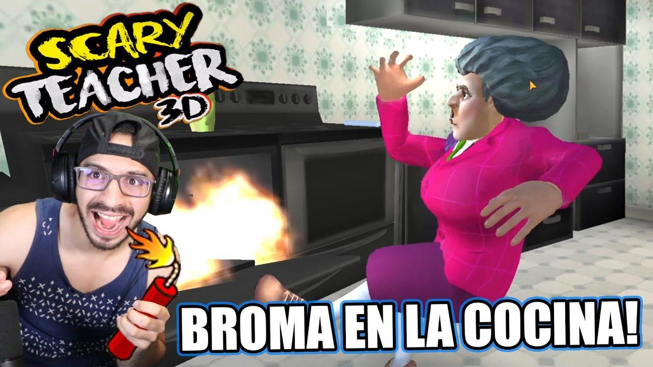 BROMA EN LA COCINA A LA MAESTRA LOCA | Scary Teacher 3D Capitulo 9 | Juegos Luky