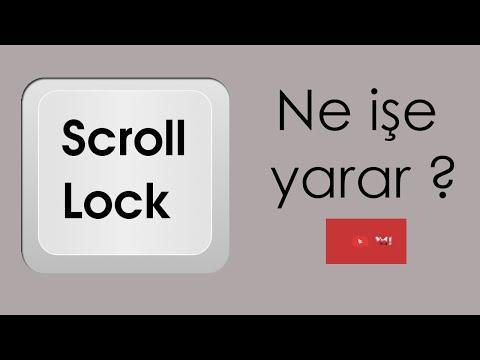 Scroll Lock Tuşu Ne İşe Yarar ?