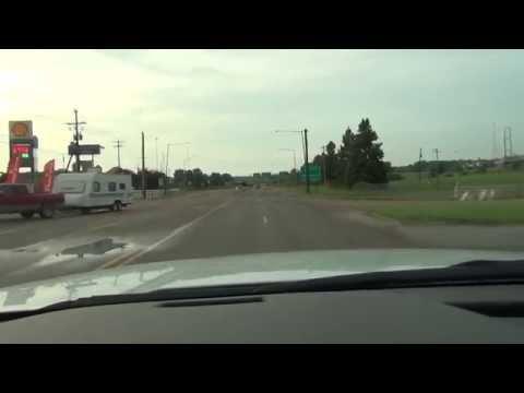 Driving in Forrest City, Arkansas - going towards Memphis