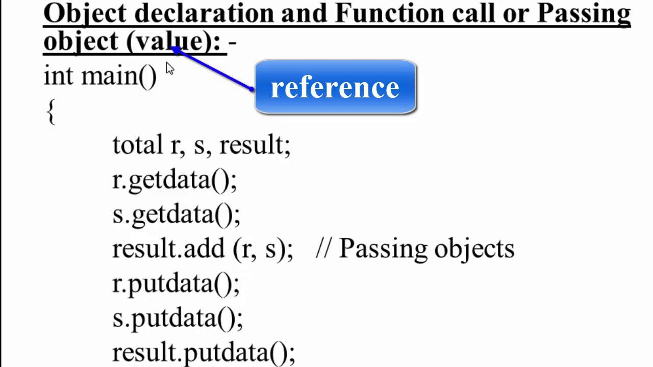 68  Object as function arguments by reference in C++ (Hindi)