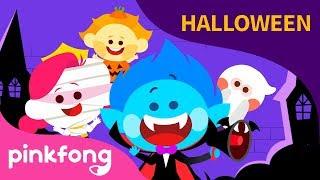 Diez Pequeños Niños Misteriosos   Canciones de Halloween   Pinkfong Canciones Infantiles