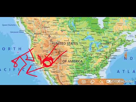 North America physical map - YouTube