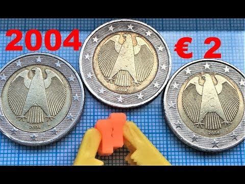 2 Euro Germany 2004 A D J Deutschland € 2 Coins Regular Coinage