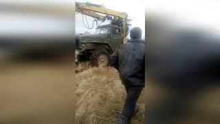 #Урал Лесовоз на гусеницах, с ведущим прицепом.Ural logging Truck on tracks, with a leading trailer.