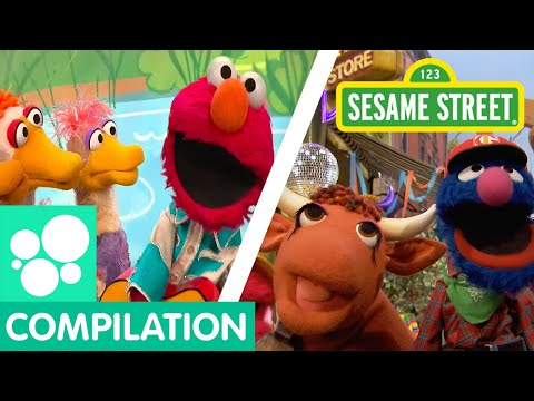 Sesame Street: Elmo's Ducks, Old MacDonald, and more clips about animals! | Animals Compilation