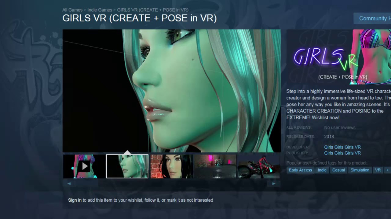 01b417ff64c Steam New Release Girl VR create your own Anime dream! Darth Chicken Gaming