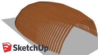Video Curved Fins Modeling in SketchUp download MP3, 3GP, MP4, WEBM, AVI, FLV Desember 2017