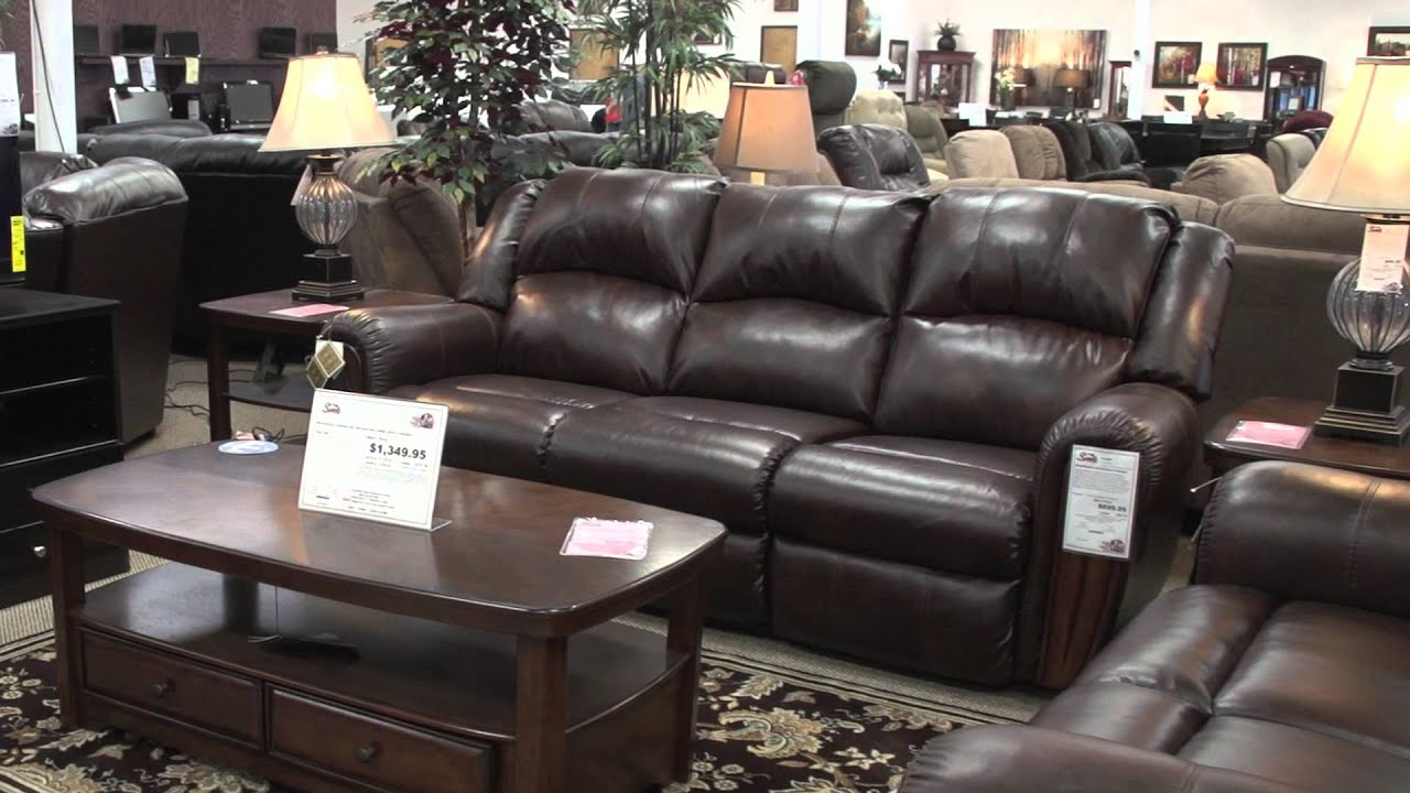 Ashley Double Reclining Sofa For Samu0027s Furniture Grand Opening In Irving,  TX   YouTube