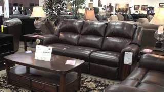 Ashley Double Reclining Sofa For Sam's Furniture Grand Opening In Irving, Tx