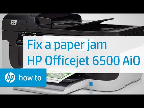 Fixing a Paper Jam - HP Officejet 6500 All-in-One Printer