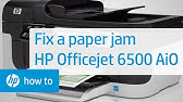 Fixing a Carriage Jam - HP Officejet 6500a Plus e-All-in-One