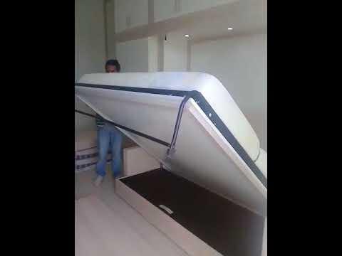 Murphy Bed in Studio Apartment Business Bay Dubai. Space Saving Folding Smart Home Beds /Furniture