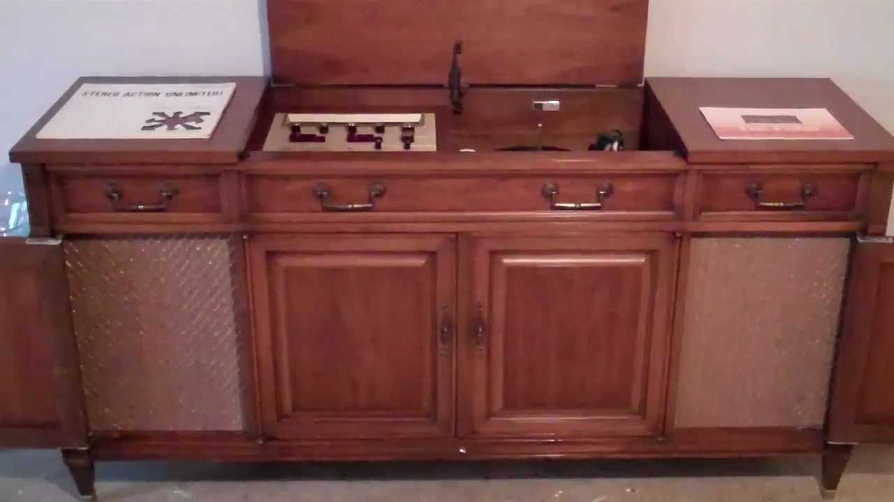 1965 Fisher Ambassador Console Stereo. Playing Stereo Unlimited ...