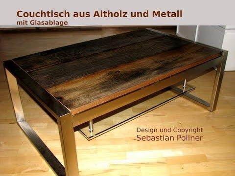 Anleitung: Designer Couchtisch aus Altholz (Reclaimed wood)