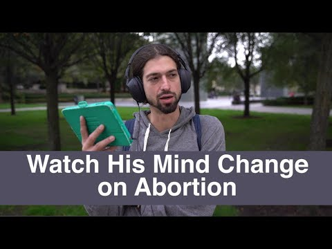 """It's so barbaric"" - Watch his mind change on abortion"