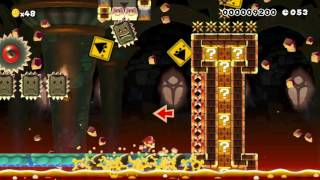 Bowser's Castle Speedrun! by Danster 一SUPER MARIO MAKER一 No Commentary