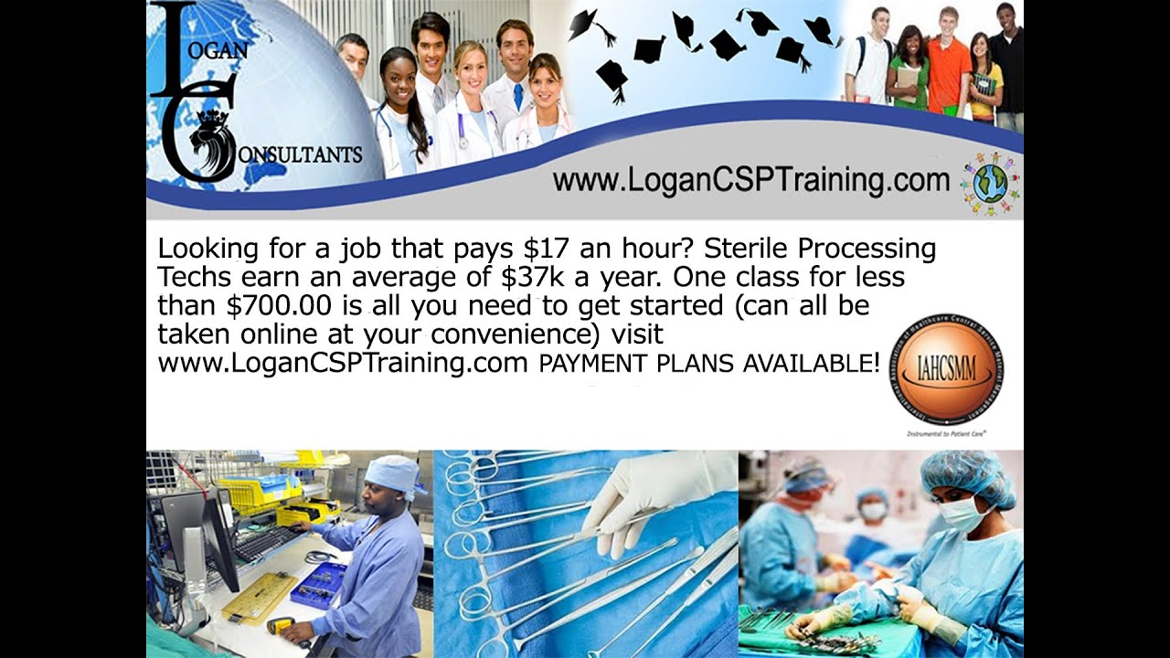 Become A Sterile Processing Technician - Logan Consultants - YouTube