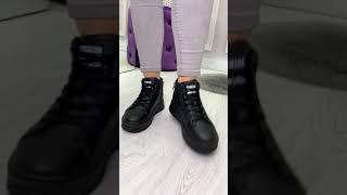 Кроссовки женские чёрные FashionClassic эко кожа Деми