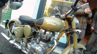 a brief look at the Royal Enfield Bullet 500 Desert Storm