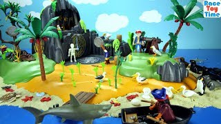 Playmobil Pirates Adventure Island Playset Build and Play with Sea Animals - Fun Toys For Kids