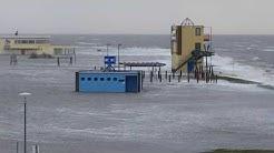 """Nordsee Tossens Sturmflut Tief """"Benjamin"""" bringt Regen und schwere Sturmböen"""