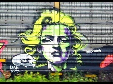 Marilyn Monroe Graffiti On CSX Train Car