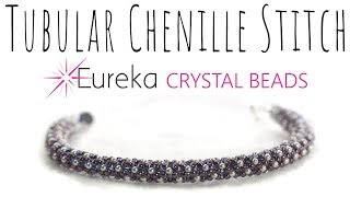 Learn Tubular Chenille Stitch with New 2 mm Swarovski Pearls!