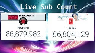 Top 100 YouTubers Sub Counts Without Vevo Live