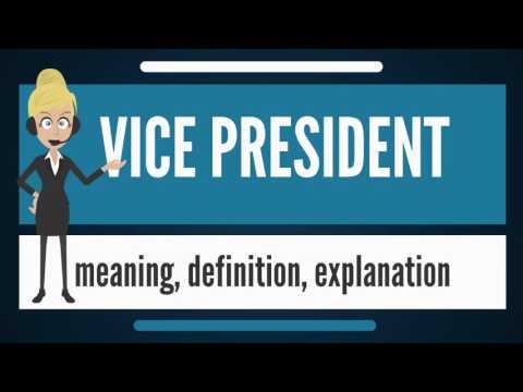 What is VICE PRESIDENT? What does VICE PRESIDENT mean? VICE PRESIDENT meaning & explanation