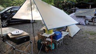 新戸キャンプ場でいつもの仲間と一泊。 そこで偶然goronさんとメルさん...
