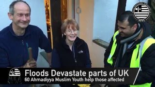 UK Flood Relief Efforts: Ahmadiyya Muslim Youth assist