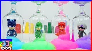 Pj Mask Friends In The Color Bubble Learn Colors With Pj Masks Wrong Heads [Jjcolor]