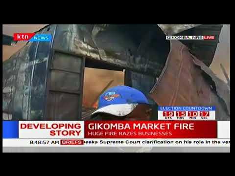 Developing story : Gikomba Market on fire