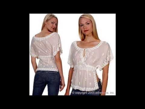 женская блуза с жабо короткий рукав - YouTube