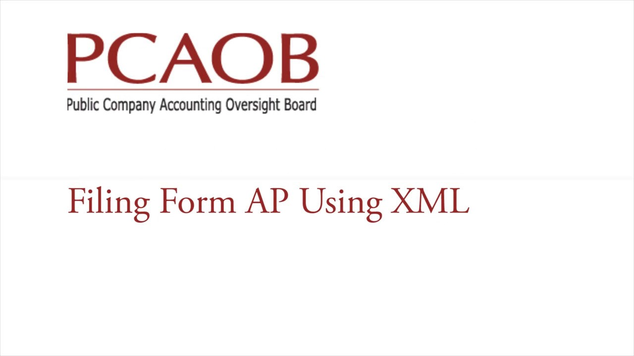 Form AP Auditor Reporting of Certain Audit Participants