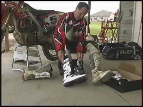 How to break in new motocross boots by Gary Semics