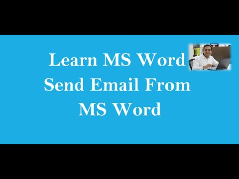 How to Send Email from MS Word - YouTube