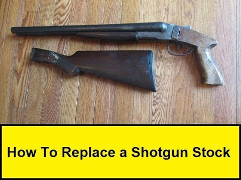 how to replace a shotgun stock youtube