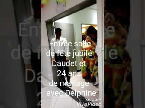 Entrée fête Jubilé Daudet et 24 ans d'union avec Delphine
