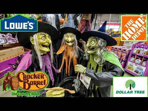 Lowes, Home Depot, Cracker Barrel & Dollar Tree Halloween Decorations 2019