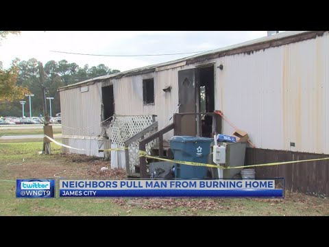 Man pulled from burning home in James City, airlifted to UNC