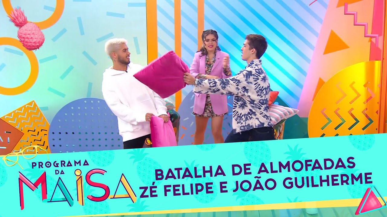 Guerra de Almofadas com Zé Felipe e João Guilherme | Programa da Maisa