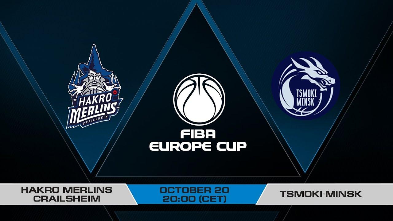 LIVE - HAKRO Merlins Crailsheim v Tsmoki-Minsk | FIBA Europe Cup 2021-22