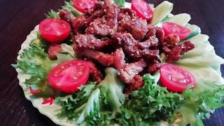 Вкусное жареное мясо.Сочная свинина с кунжутом по азиатски