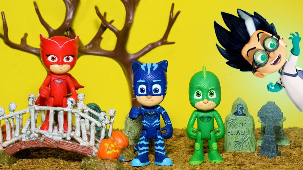 PJ Masks Halloween Trick or Treat Adventure with Romeo and ...