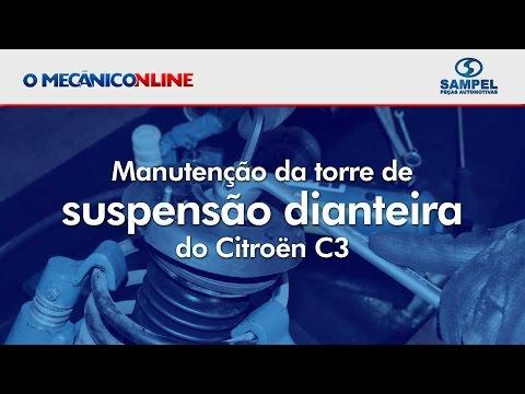 Manutenção da torre de suspensão dianteira do Citroën C3