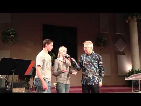 Powerful testimony at Randy Clark Healing service.