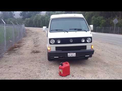 Vanagon SVX No Gas, No Phone & At Gunpoint!!!( Spare fuel Carrier Mod!!!)