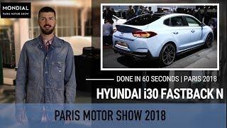 Done in 60 seconds | Paris Motor Show 2018 | Hyundai i30 Fastback N